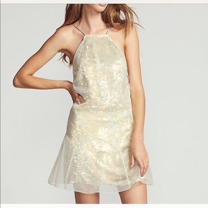 7b35b70f66690 Free People Gold Sequin Ghost Dress